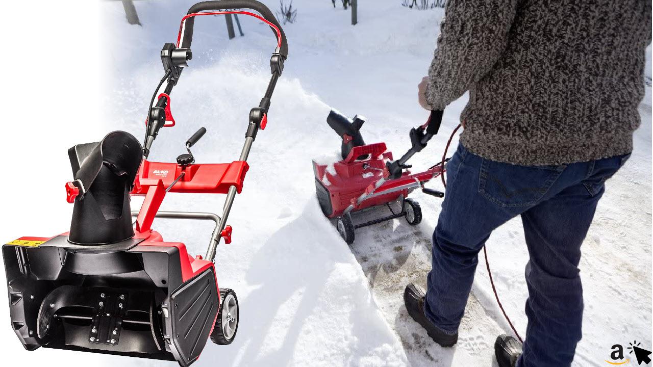 AL-KO 112932 Snow Line Elektro-Schneefräse 46 E mit starken 2000 Watt und großer Räumbreite 46 cm, Wurfweite 10 m, Griffhöhe verstellbar