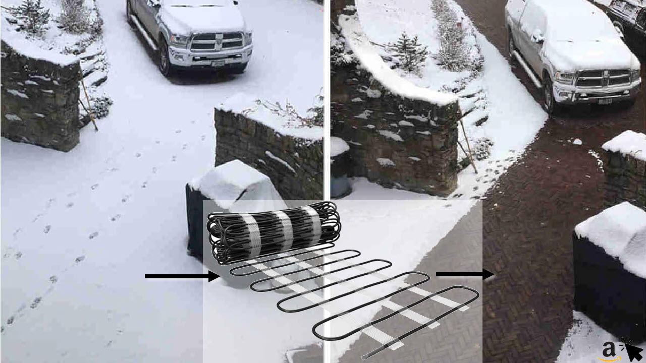 Elektrische Freiflächenheizung 10m² Rampenheizung Gehwegheizung Einfahrtheizung