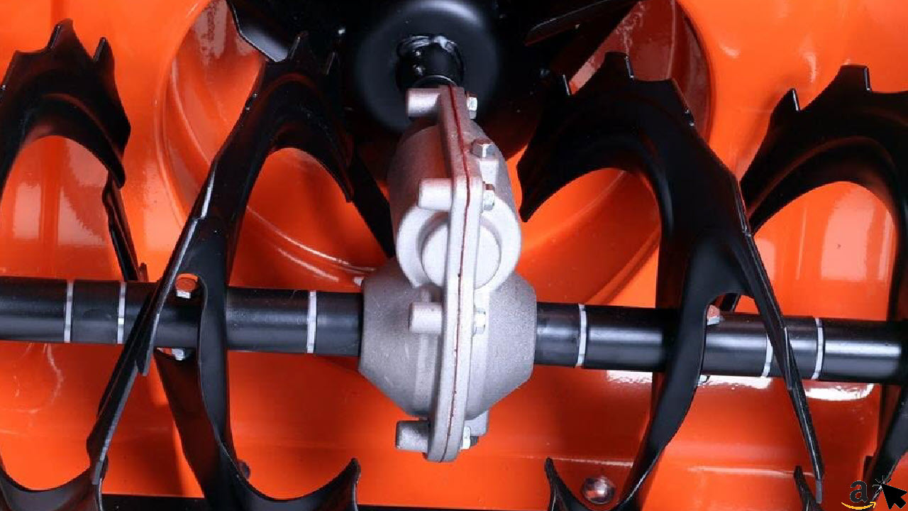 FUXTEC Benzin Schneefräse FX-SF1196 6,5 PS, Getriebe, Fräse, Auswurfschachteingang