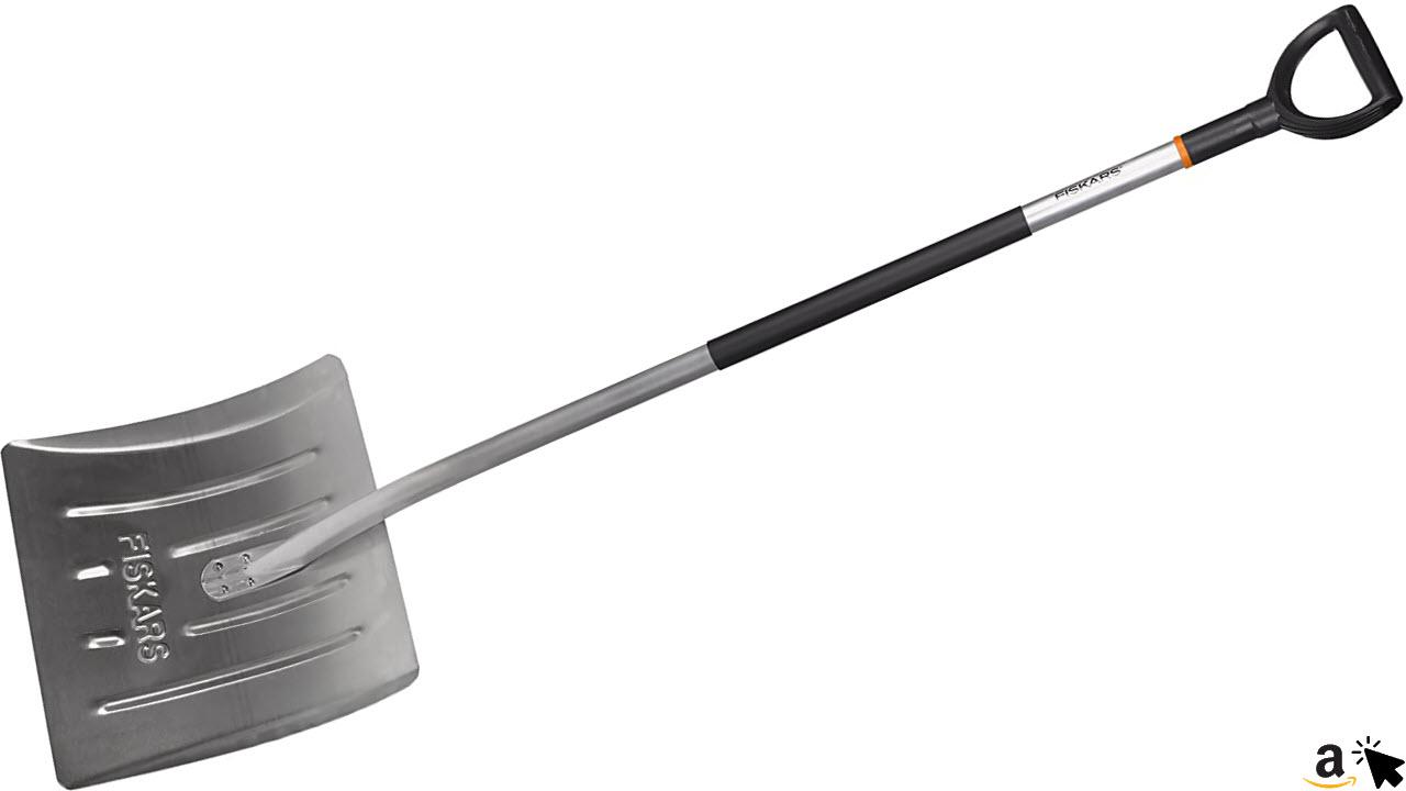 Fiskars Schneeräumer für kleine und große Schneemengen, Blattbreite 44 cm, Kunststoff-Aluminium