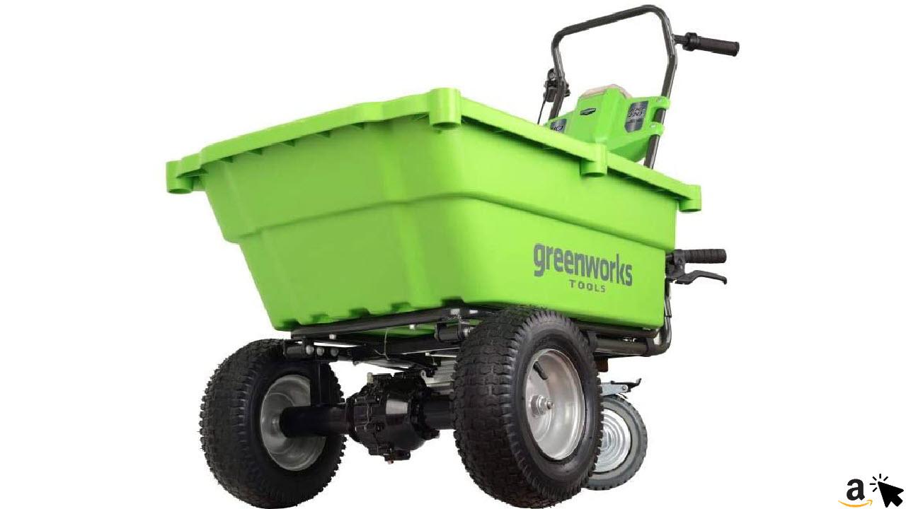 Greenworks 40 V Akku-der Sackkarre, 106 Liter Volumen, 100 kg Traglast, 3,5 kmh