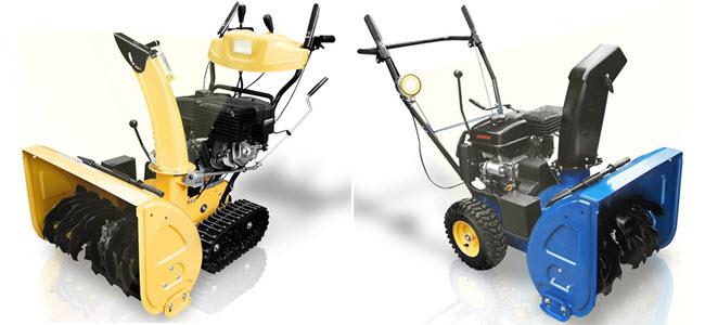 Holzinger Benzin Schneefräsen mit Rad und Raupenantrieb