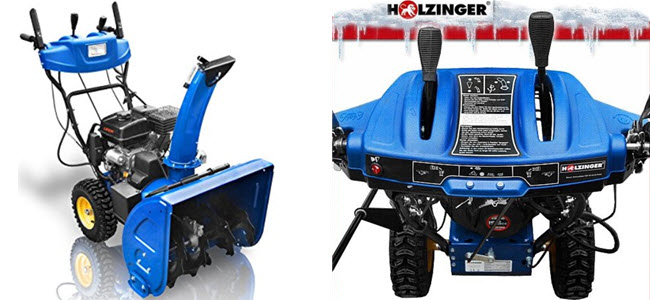 Holzinger Benzin Schneefräse Komfort HSF-65-2LE) 6,5PS Bedienpult