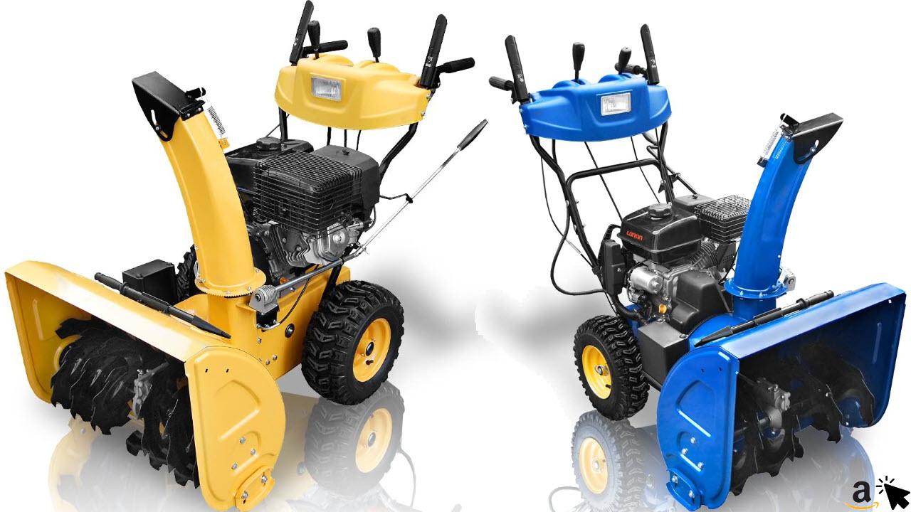 Holzinger Benzin Schneefräse HSF-110LE mit E-Start, Licht und Radantrieb + Schneeräumer Komfort HSF-65-2LE - 6,5 PS mit Bedienpult