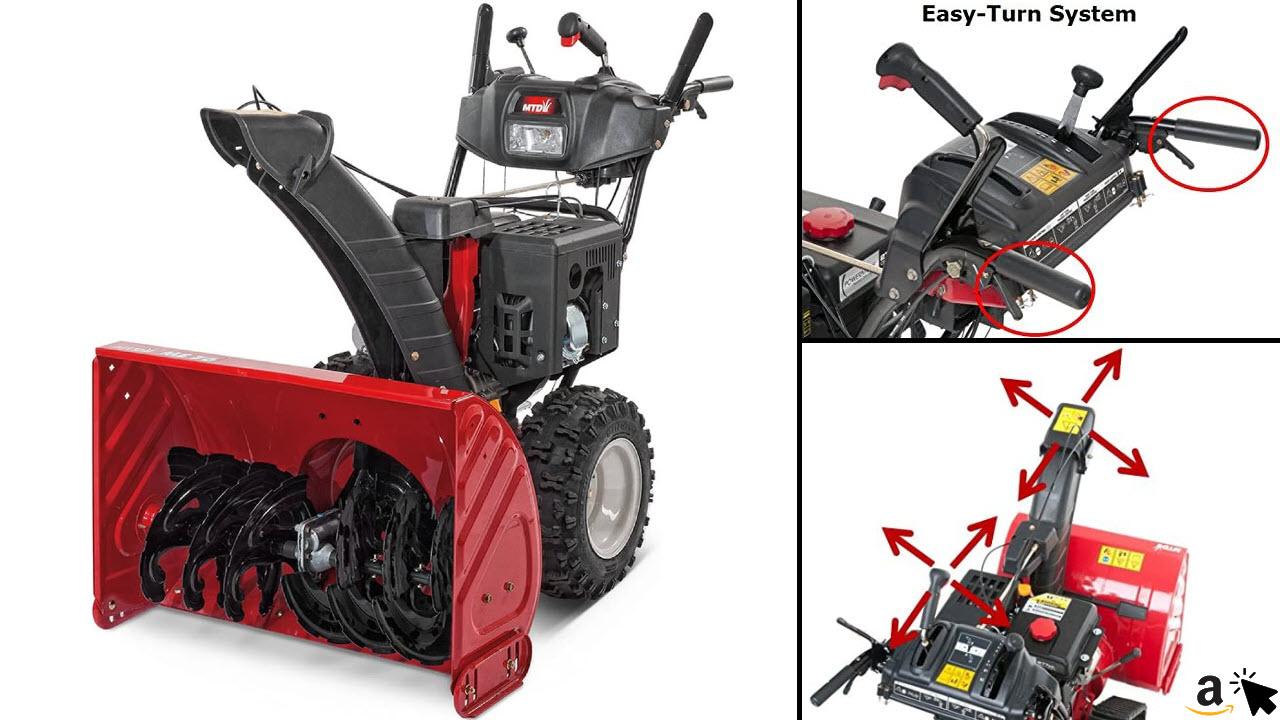 MTD - Optima ME 76 Benzin Schneefräße mit Antrieb, Rot, 137,2x78,7x111,8 cm