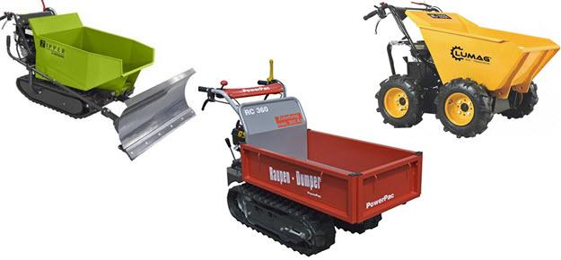MiniDumper und Raupentransporter Muldenkipper