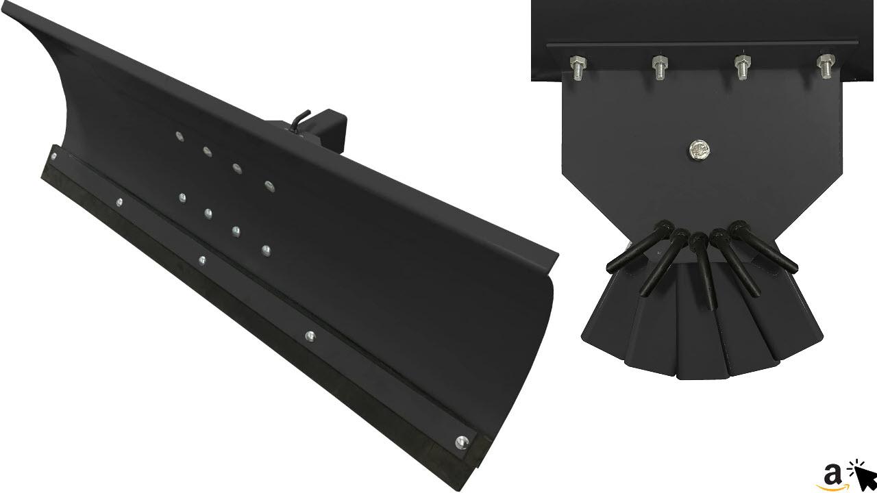 Schneepflug Schneeschild Universal 5 Fach verstellbar für Einachsermaschinen oder Rasentraktoren 100x40 cm Schwarz
