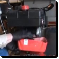 Schneefräsen Benzintank ablassen