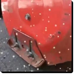 Schneefräsen Gleitkufen und Außengehäuse